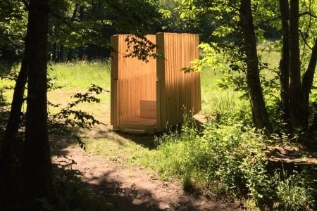 Hut n°13 - Portrait de paysage - Ayn «Col du Banchet» - The architects : Pierre BERGER, Adrien CARTIER